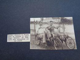 """Origineel Knipsel ( 5057 ) Uit Tijdschrift """" Zondagsvriend """"  1936 : Coureur  Renner Danneels Maes  Knocke  Knokke - Vieux Papiers"""