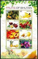 XB0982 Bhutan 2016 Various Fruits Pineapple Passion Fruit S/S - Bhoutan