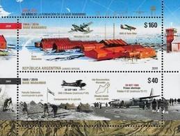 Argentina 2019 Marambio Antarctic Base Airplanes SS MNH - Argentinien