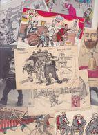 Lot 2464 De 10 CPA Satirique Caricature Politique Déstockage Pour Revendeurs Ou Collectionneurs - Cartes Postales
