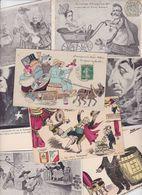 Lot 2465 De 10 CPA Satirique Caricature Politique Déstockage Pour Revendeurs Ou Collectionneurs - Cartes Postales