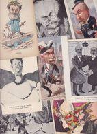 Lot 2466 De 10 CPA Satirique Caricature Politique Déstockage Pour Revendeurs Ou Collectionneurs - Cartes Postales