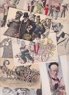 Lot 2468 De 10 CPA Satirique Caricature Politique Déstockage Pour Revendeurs Ou Collectionneurs - Cartes Postales