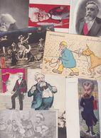 Lot 2469 De 10 CPA Satirique Caricature Politique Déstockage Pour Revendeurs Ou Collectionneurs - Cartes Postales