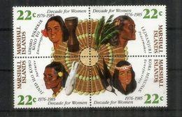 Artisanat Fait Par Les Femmes Des îles Marshall.   Bloc De 4 Neufs ** - Marshall Islands