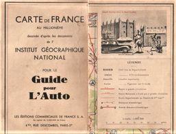 Guide Pour L'auto Carte De France Illustrations Delarue- Nouvelliere DUNLOP - Cartes Routières