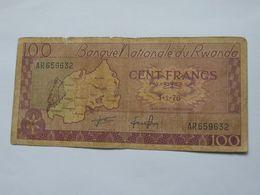 100 Francs 1-1-1976   Banque National Du RWANDA  **** EN ACHAT IMMEDIAT **** - Rwanda