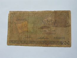 20 Francs 15-03-1969   Banque National Du RWANDA  **** EN ACHAT IMMEDIAT **** - Rwanda