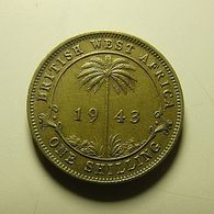 British West Africa 1 Shilling 1943 - Kolonien