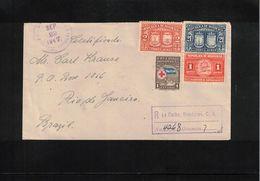 Honduras 1947 Interesting Registered Letter To Brazil - Honduras