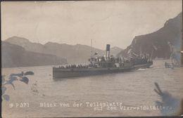 Cartolina Blick Von Der Tellsplatte Auf Den Vierwaldstättersee 1908 - Schiffe
