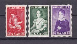 Saarland - 1954 - Michel Nr. 354/356 - Postfrisch - 1947-56 Protectorate
