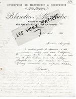 58 - Nièvre - CERCY-LA-TOUR - Facture BLANDIN-ALEXANDRE - Menuiserie, Serrurerie - 1914 - REF 159A - 1900 – 1949