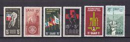 Saarland - 1955/56 - Michel Nr. 357/360 + 368/369 - Postfrisch/Ungebr. M. Falz - 1947-56 Protectorate