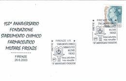 Firenze Florenz Stabilimento Chimico Farmaceutico Militare 2003 Deus Salutem Nos Remedia Gott Schütze Uns Die Heilmittel - Pharmacie