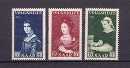 Saarland - 1956 - Michel Nr. 376/378 - Postfrisch - 1947-56 Allierte Besetzung