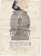 Attestation De Participation Au Pèlerinage De Notre Dame De Lorette 1877 - Documents Historiques