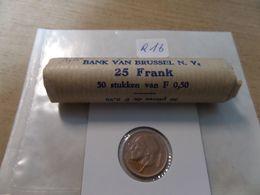 1974  50 Cent - Bank Rolletje Van 50 Stuks - Franse Taal  - R16  Bank Van Brussel - 03. 50 Centimos