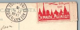 ROUEN 1910 GROS TIMBRE SEMAINE D'AVIATION 19-26 JUIN 1910 L WOLF QUARTIER SAINT GERVAIS ST GERVAIS 76 STAMP OBLITERATION - Rouen