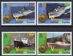 Tristan Da Cunha 2013 Volcano IV Set Of 4, MNH, SG 1087/90 - Tristan Da Cunha