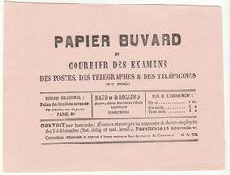 Buvard Du Courrier Des Examens Des Postes Télégraphes Et Téléphones - Carte Assorbenti
