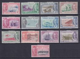 CAYMAN 1950, SG# 135-147, CV £80, Animals, Fish, Ships, Architecture, MH - Cayman (Isole)