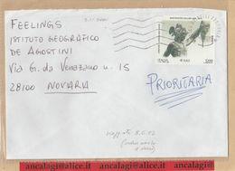 """St.Posta 1888 - REPUBBLICA 2002 - Prioritaria, Affran. Con € 0,62 L.1200 """"Benvenuto Cellini"""" Isolato In Tariffa - 6. 1946-.. Repubblica"""