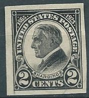VERINIGTE STAATEN ETATS UNIS USA 1923 Harding BlaCk Imperf MNH SC 611 YV 249a MI 289 B SG 615 - United States