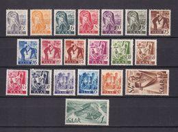 Saarland - 1947 - Michel Nr. 206/225 - Ungebr. M. Falz - 1947-56 Protectorate