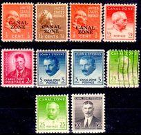 B35-Panama: Canal-Zone-1940 (++/+/o) MNH/LH/Used. (Piccolo Omaggio). - Panama