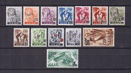 Saarland - 1947 - Michel Nr. 226/238 - Ungebr. M. Falz - 1947-56 Protectorate