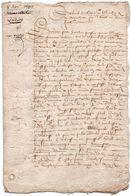 Pierre De Miraulmont 1599. Lettre Conseiller Du Roy Henri IV - Boeken, Tijdschriften, Stripverhalen