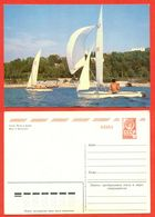 USSR 1983. Postcard With Printed Stamp. Unused. - Sailing