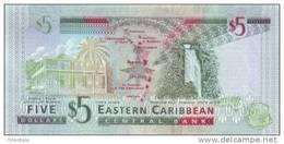 EAST CARIBBEAN STATES P. 47a 5 D 2008 UNC - Ostkaribik