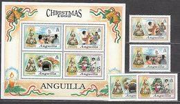 Anguilla Correo Yvert 805/8+Hb 93 ** Mnh Navidad - Anguilla (1968-...)