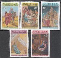 Anguilla Correo Yvert 853/7 ** Mnh Navidad - Anguilla (1968-...)