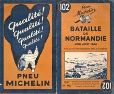 ORIGINAL 1947 Michelin - Carte N°102 - Bataille De Normandie - Juin-Août 1944 - Cartes Routières