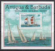 Antigua Hojas Yvert 137 (*) Mng Veleros - Antigua En Barbuda (1981-...)