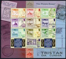 Tristan Da Cunha 2015 Europhilex, The Potato Essays Sheetlet Of 10, MNH, SG 1119/28 - Tristan Da Cunha