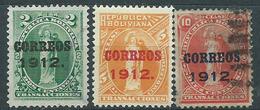 Bolivia Correo 1912 Yvert 93/95 O - Bolivien