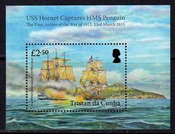 Tristan Da Cunha 2015 Bicentenary Of HMS Penguin Capture Ships MS, MNH, SG 1131 - Tristan Da Cunha