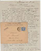 Hérault Bédarieux Béziers Huiles, Amandes, Graines De Luzerne O. Roque 1881 - France