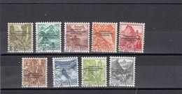 Suisse - Année 1944 - Service - Oblitéré - N°Zumstein 1/9 - BIE - Paysages, Courrier Du BIE - Service