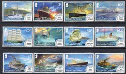 Tristan Da Cunha 2015 Early Mail Ships Set Of 12, MNH, SG 1151/62 - Tristan Da Cunha
