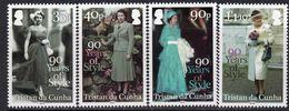 Tristan Da Cunha 2016 Queen's 90th Birthday Set Of 4, MNH, SG 1163/6 - Tristan Da Cunha
