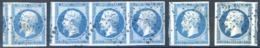 France N°14 - Lot De 4 Exemplaires Dont Une Bande De 3 - Luxe - (F1718) - 1853-1860 Napoléon III.