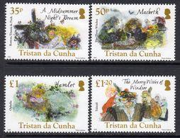 Tristan Da Cunha 2016 400th Death Anniversary Of Shakespeare Set Of 4, MNH, SG 1168/71 - Tristan Da Cunha