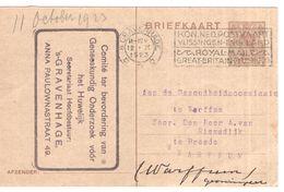 Den Haag - Geneeskundig Onderzoek - 1923 - Warffum - Postal History