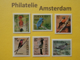Rhodesia 1971, FAUNA BIRDS OISEAUX VOGELS VÖGEL AVES: Mi 108-13, ** - Pájaros