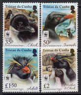 Tristan Da Cunha 2017 Rockhopper Penguins Set Of 4, MNH - Tristan Da Cunha